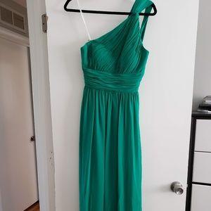 Donna Morgan One-Shoulder Floor Length Dress. Sz4